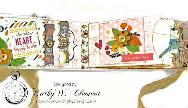 Grateful Paper Bag Envelope Mini Album by Kathy Clement Product by Tammy Tutterow Designs Photo 3
