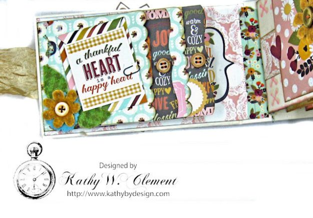 Grateful Paper Bag Envelope Mini Album by Kathy Clement Product by Tammy Tutterow Designs Photo 4