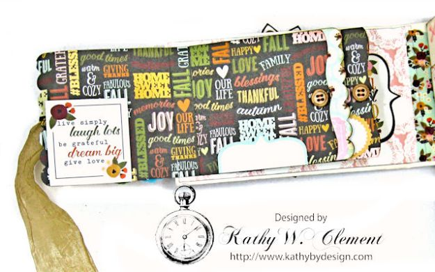 Grateful Paper Bag Envelope Mini Album by Kathy Clement Product by Tammy Tutterow Designs Photo 5