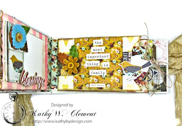 Grateful Paper Bag Envelope Mini Album by Kathy Clement Product by Tammy Tutterow Designs Photo 9