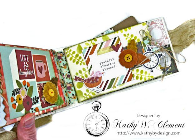 Grateful Paper Bag Envelope Mini Album by Kathy Clement Product by Tammy Tutterow Designs Photo 13