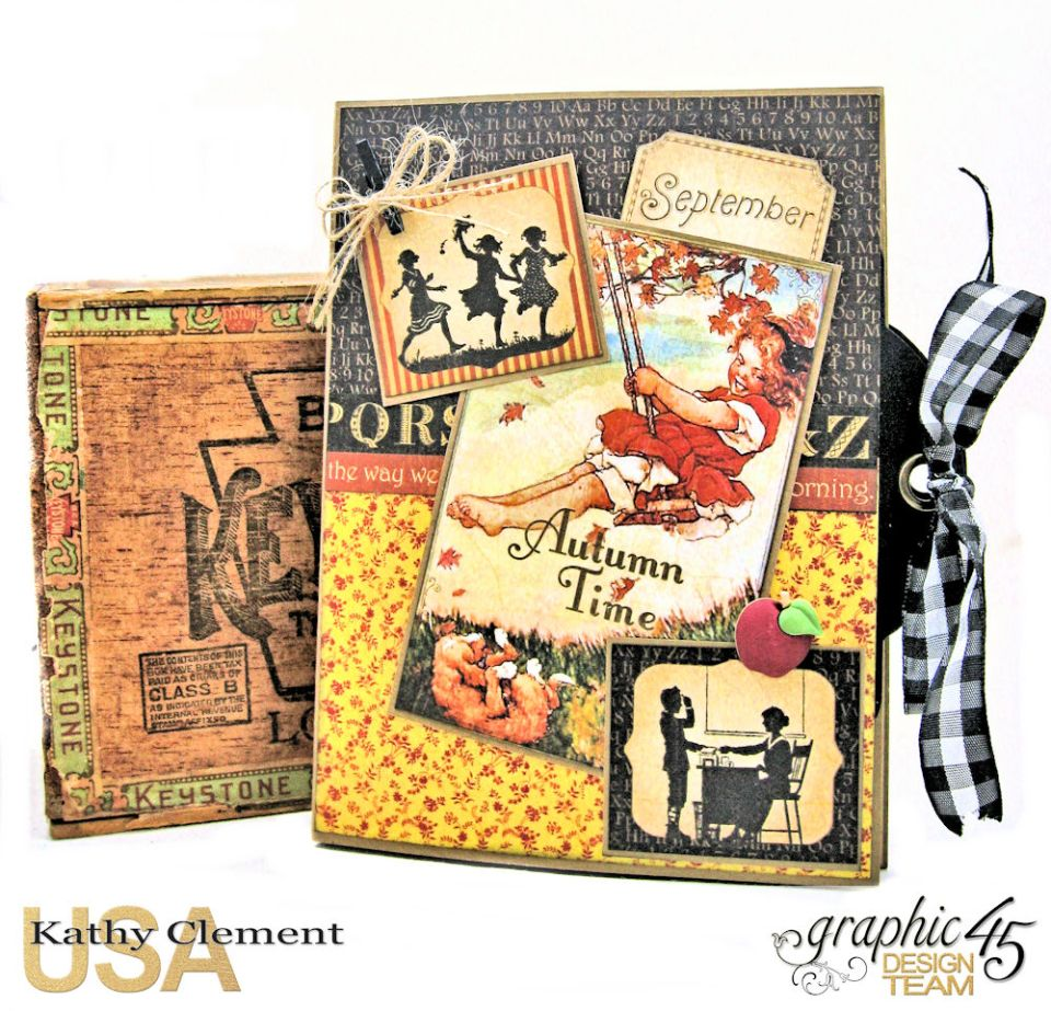 @SimplyG45 Autumn Time 45 minute folio video tutorial A Place in Time ABC Primer by Kathy Clement Product by Graphic 45 Photo 1