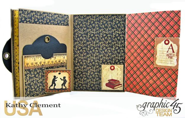 @SimplyG45 Autumn Time 45 minute folio video tutorial A Place in Time ABC Primer by Kathy Clement Product by Graphic 45 Photo 8