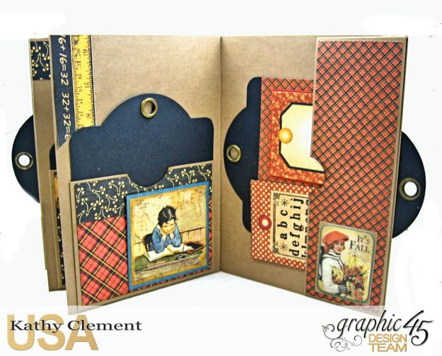 @SimplyG45 Autumn Time 45 minute folio video tutorial A Place in Time ABC Primer by Kathy Clement Product by Graphic 45 Photo 9