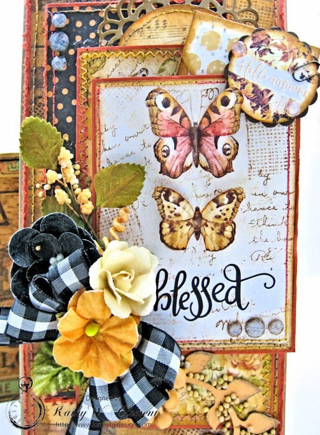 Amber Moon Blessed Birthday Greeting Card by Kathy Clement Photo 3