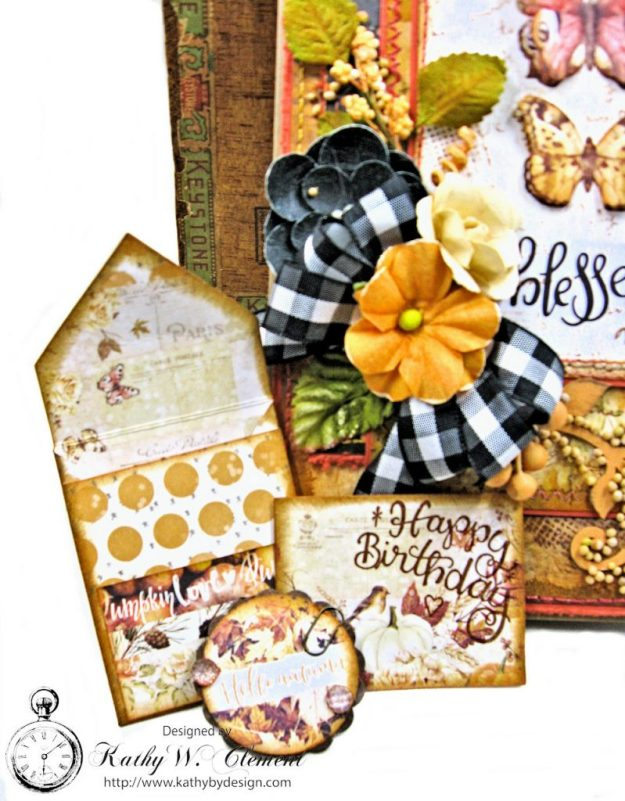 Amber Moon Blessed Birthday Greeting Card by Kathy Clement Photo 6