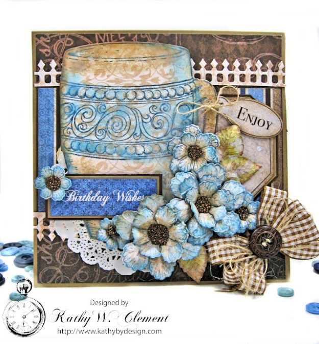 Coffee Talk Birthday Card Folio by Kathy Clement September HC Alumni Blog Hop Photo 1