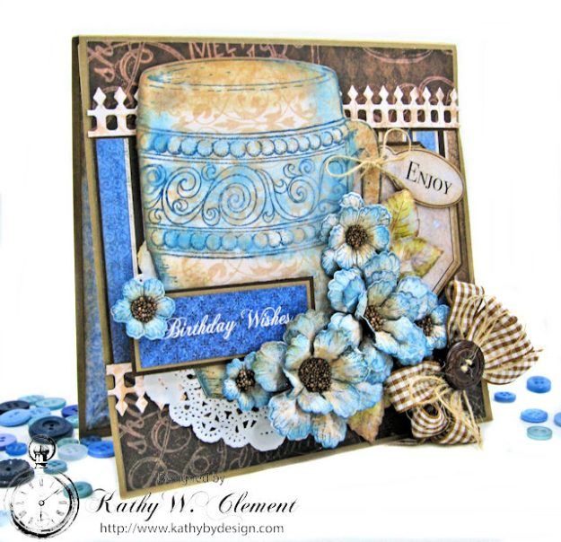 Coffee Talk Birthday Card Folio by Kathy Clement September HC Alumni Blog Hop Photo 2