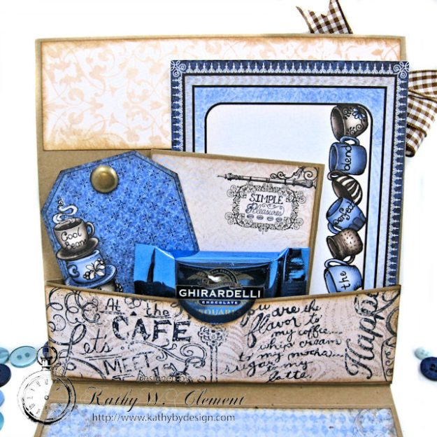 Coffee Talk Birthday Card Folio by Kathy Clement September HC Alumni Blog Hop Photo 5