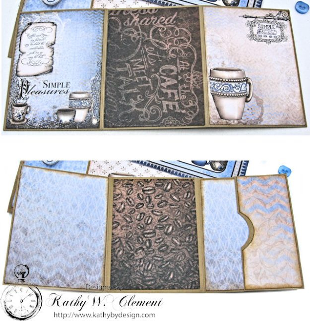 Coffee Talk Birthday Card Folio by Kathy Clement September HC Alumni Blog Hop Photo 7