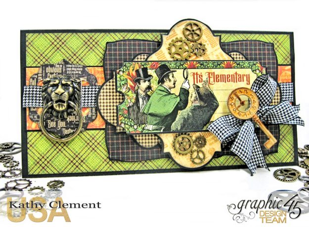 Elementary Masculine Birthday Card Master Detective by Kathy Clement Product by Graphic 45 Photo 1