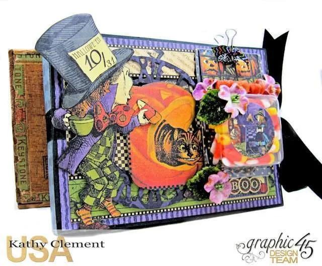 Halloween in Wonderland Candy Corn Folio Halloween in Wonderland by Kathy Clement Product by Graphic 45 Photo 1