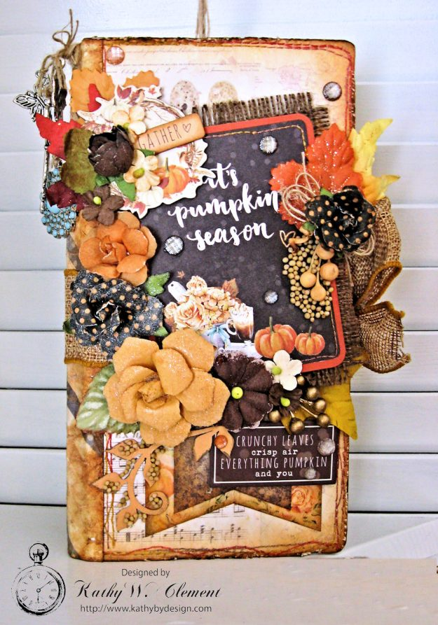 Pumpkin Season Recipe Journal Amber Moon by Kathy Clement Product by Prima Photo 1