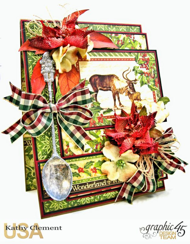 Winter Wonderland Spoonful of Christmas Card Winter Wonderland by Kathy Clement Product by Graphic 45 Photo 1