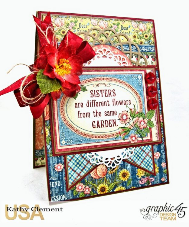 Flowers from the Same Garden Pocket Card Penny's Paper Doll Family by Kathy Clement Product by Graphic 45 Photo 1