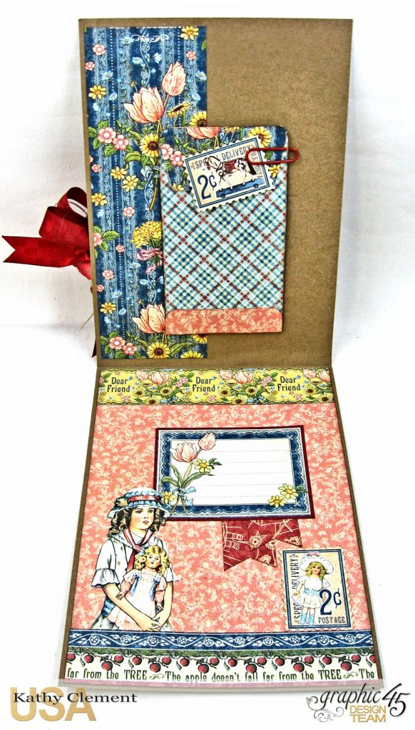 Flowers from the Same Garden Pocket Card Penny's Paper Doll Family by Kathy Clement Product by Graphic 45 Photo 4