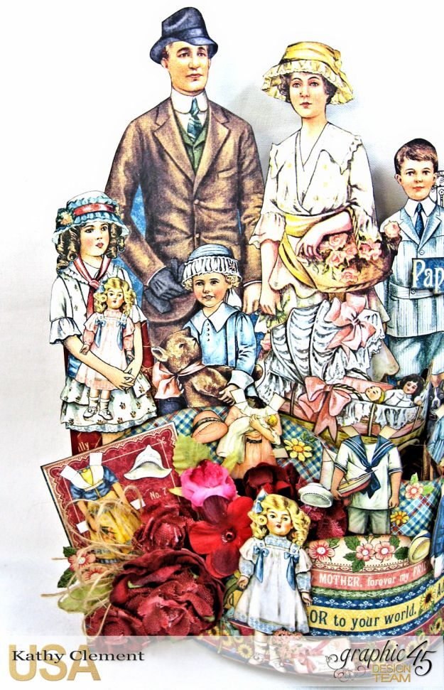 Happy Family Bendi Card Penny's Paper Doll Family by Kathy Clement Product by Graphic 45 Photo 4