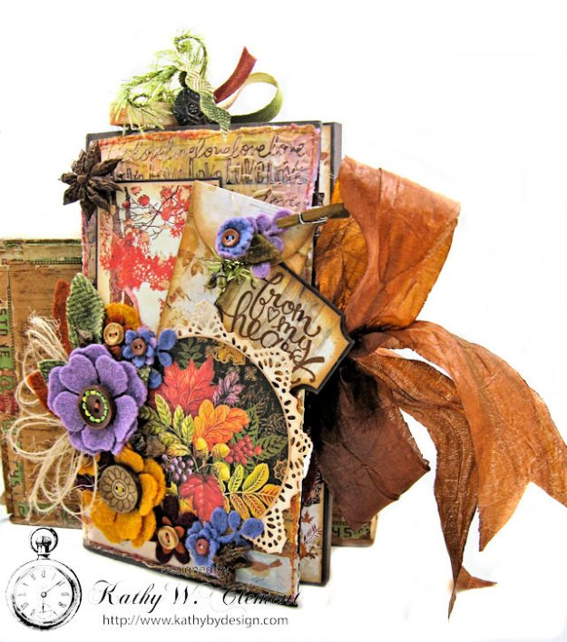 Prima Amber Moon Thankful Heart Folio by Kathy Clement for Tammy Tutterow Designs Product by Spellbinders Photo 3