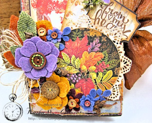 Prima Amber Moon Thankful Heart Folio by Kathy Clement for Tammy Tutterow Designs Product by Spellbinders Photo 5