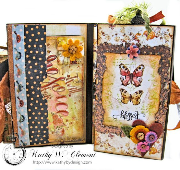Prima Amber Moon Thankful Heart Folio by Kathy Clement for Tammy Tutterow Designs Product by Spellbinders Photo 7