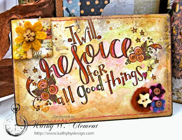 Prima Amber Moon Thankful Heart Folio by Kathy Clement for Tammy Tutterow Designs Product by Spellbinders Photo 8