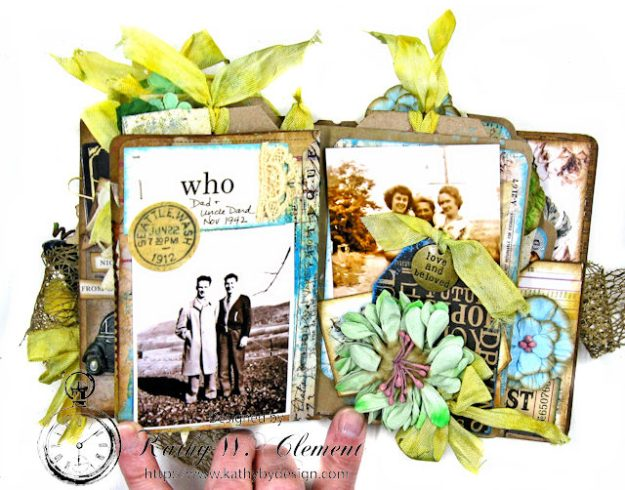 Faded Photos Passport Album for Frilly and Funkie Timeworn Challenge by Kathy Clement Photo 10