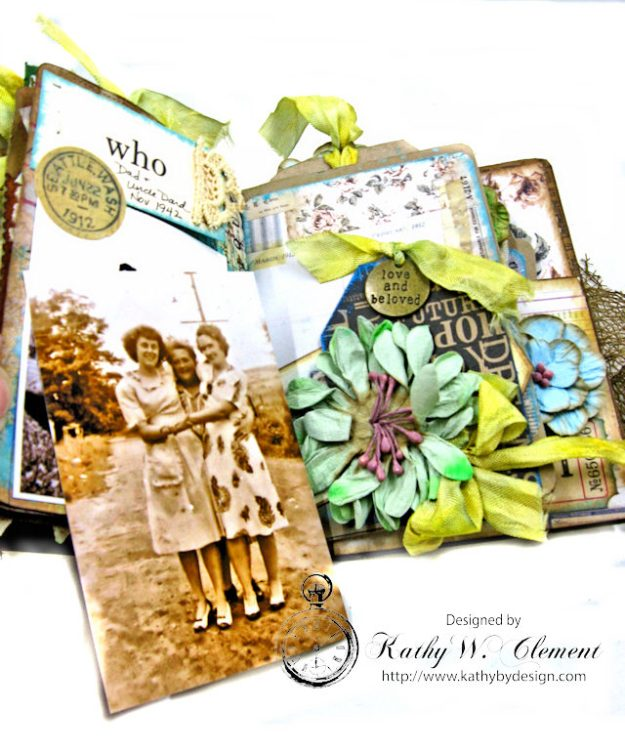 Faded Photos Passport Album for Frilly and Funkie Timeworn Challenge by Kathy Clement Photo 11