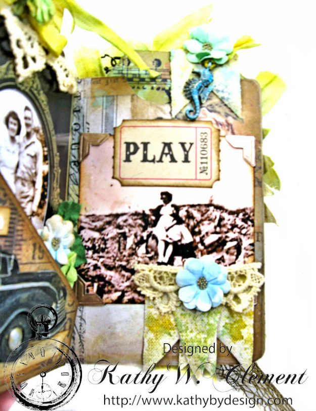 Faded Photos Passport Album for Frilly and Funkie Timeworn Challenge by Kathy Clement Photo 6