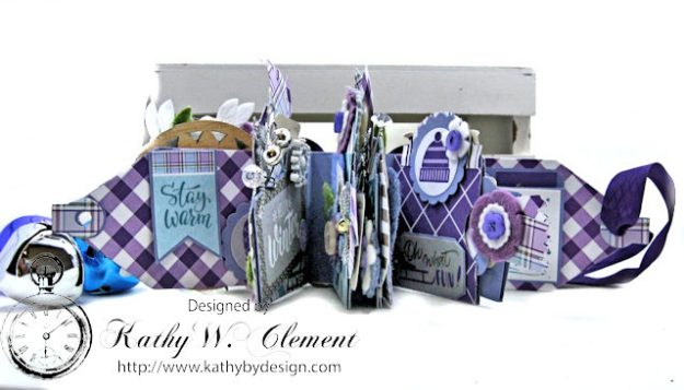 Frosty Winter Mini Tag Album Tutorial by Kathy Clement for Tammy Tutterow Designs Product by Spellbinders and Authentique Photo 5