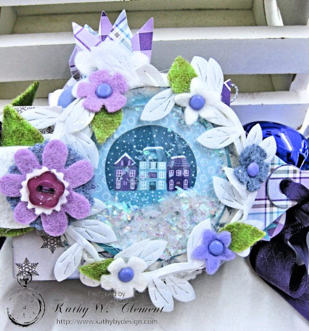 Frosty Winter Mini Tag Album Tutorial by Kathy Clement for Tammy Tutterow Designs Product by Spellbinders and Authentique Photo 2