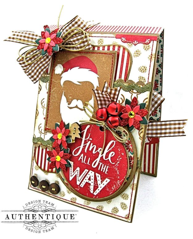 Jingle All the Way Christmas Card Folio Colorful Christmas by Kathy Clement Product by Authentique Photo 3