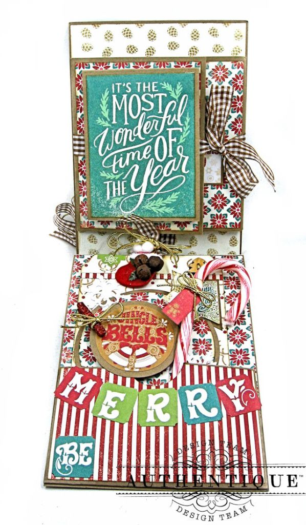 Jingle All the Way Christmas Card Folio Colorful Christmas by Kathy Clement Product by Authentique Photo 4