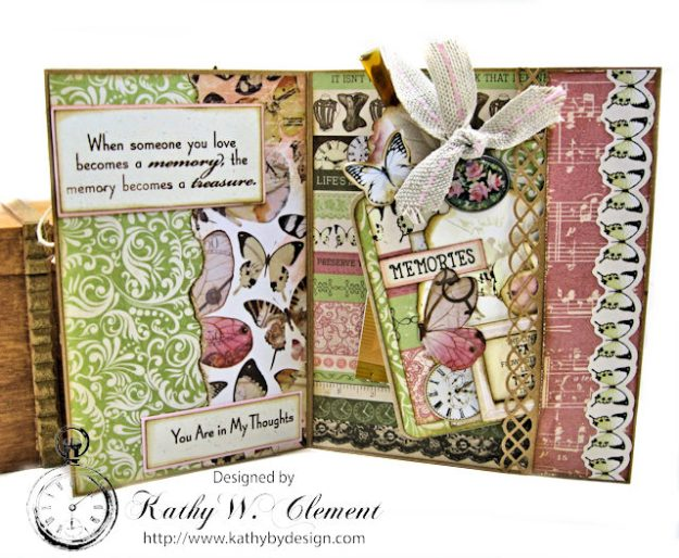 Memories Shabby Chic Sympathy Card by Kathy Clement for Really Reasonable Ribbon Photo 3