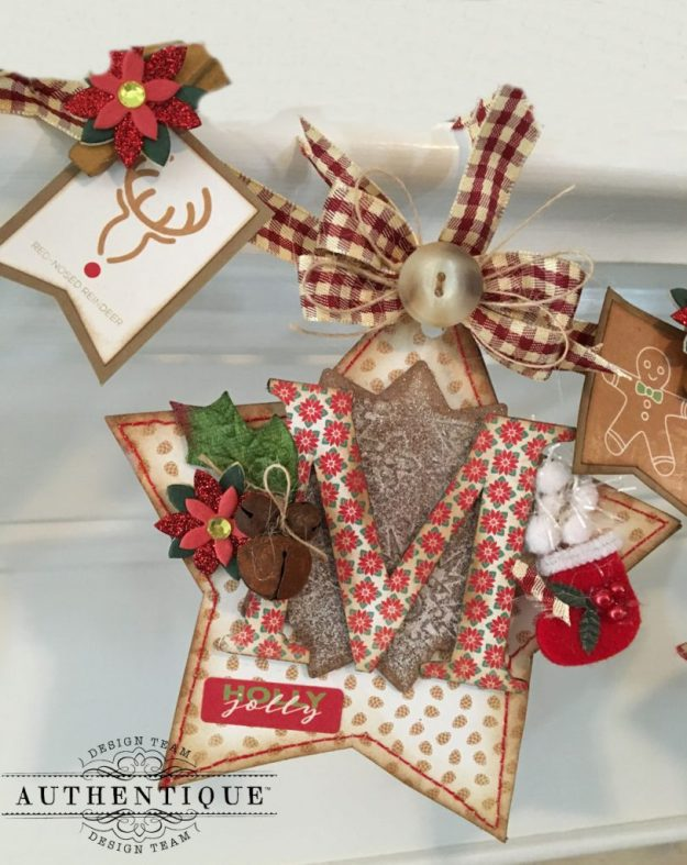 Merry Christmas Star Banner Colorful Christmas by Kathy Clement Product by Authentique Photo 2