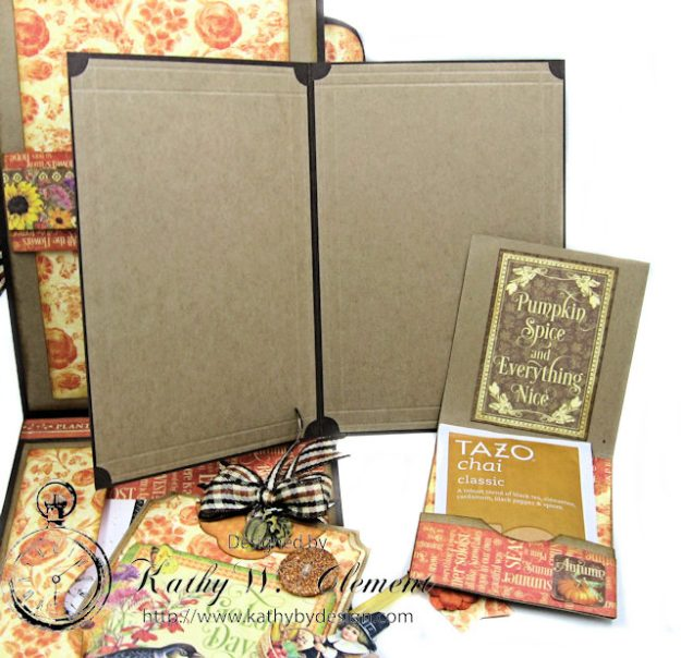 Thankful Season Card Folio Seasons by Kathy Clement for Frilly and Funkie Give Thanks Challenge Product by Graphic 45 Photo 8