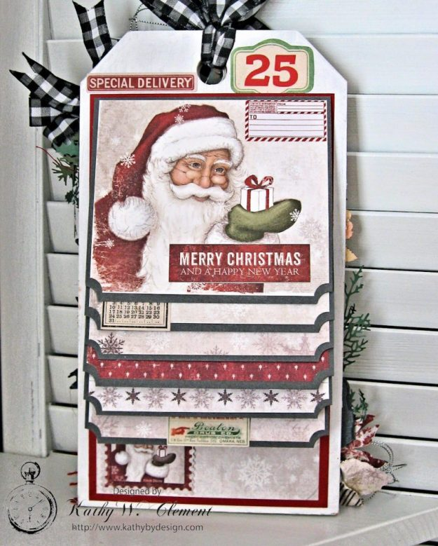 White Christmas Etcetera Shaker Tag by Kathy Clement for Frilly and Funkie Challenge Blog Photo 7