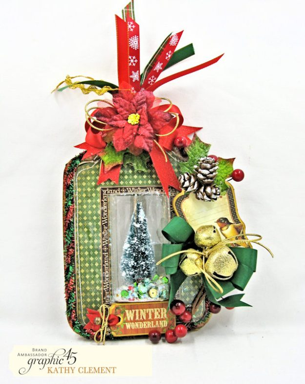 Graphic 45 Winter Wonderland Dimensional Shaker Tag Tutorial Winter Wonderland by Kathy Clement Product by Graphic 45 Photo 1