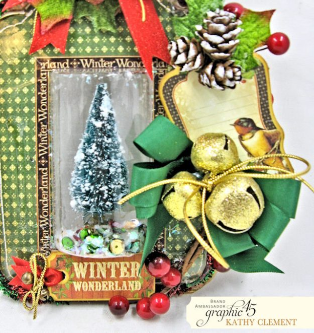 Graphic 45 Winter Wonderland Dimensional Shaker Tag Tutorial Winter Wonderland by Kathy Clement Product by Graphic 45 Photo 2
