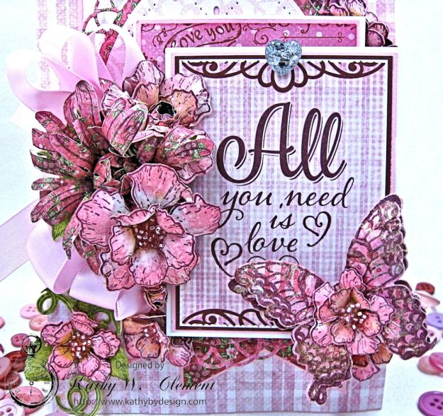 All You Need is Love Valentine and Tag Heartfelt Love by Kathy Clement Product by Heartfelt Creations Photo 8