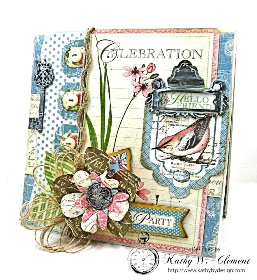Botanical Tea Pop Up Birthday Card By Kathy Clement Product Graphic 45 Photo