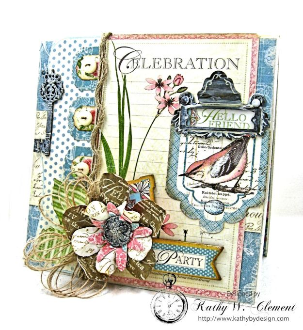 Botanical Tea Pop Up Birthday Card Botanical Tea by Kathy Clement Product by Graphic 45 Photo 1