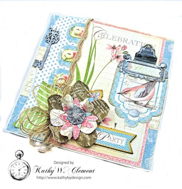 Botanical Tea Pop Up Birthday Card Botanical Tea by Kathy Clement Product by Graphic 45 Photo 2