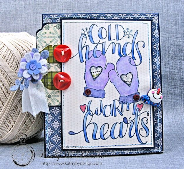 Cold Hands Warm Heart Twist and Pop Up Card Tutorial Cold Hands by Kathy Clement Product by Tammy Tutterow Designs Photo 1