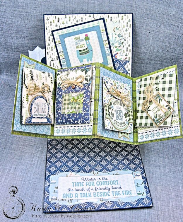 Cold Hands Warm Heart Twist and Pop Up Card Tutorial Cold Hands by Kathy Clement Product by Tammy Tutterow Designs Photo 3