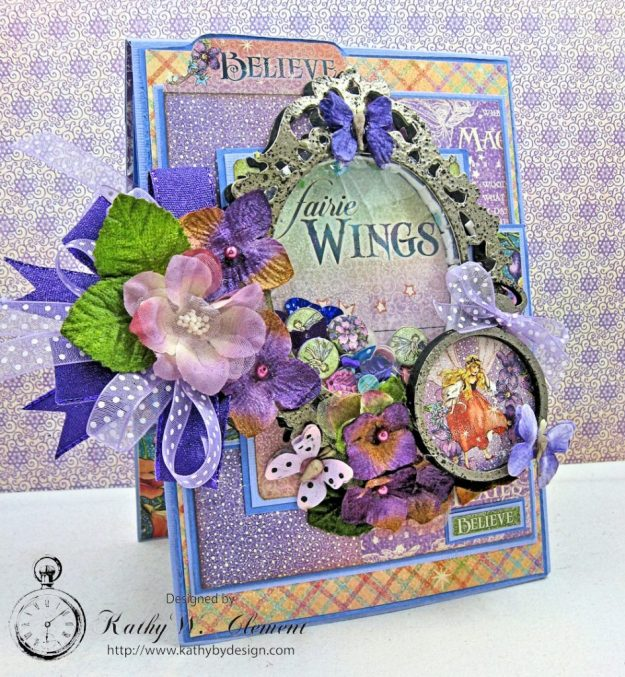 Graphic 45 Fairie Wings Shaker Card Folio Fairie Dust by Kathy Clement Product by Graphic 45 Photo 1