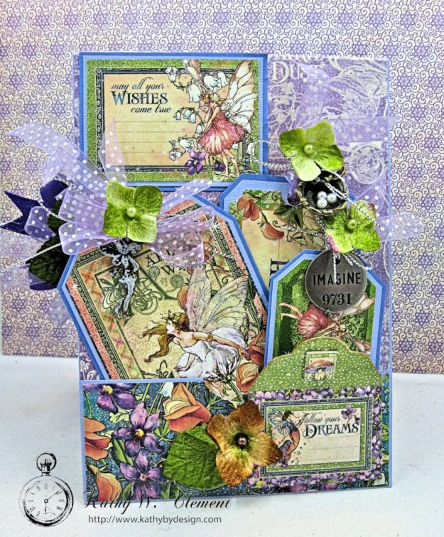 Graphic 45 Fairie Wings Shaker Card Folio Fairie Dust by Kathy Clement Product by Graphic 45 Photo 8