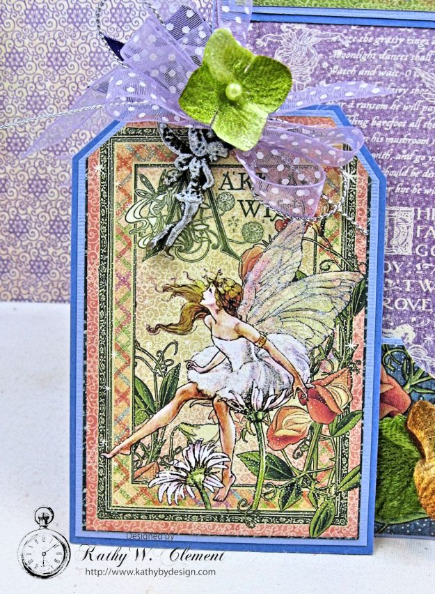 Graphic 45 Fairie Wings Shaker Card Folio Fairie Dust by Kathy Clement Product by Graphic 45 Photo 10