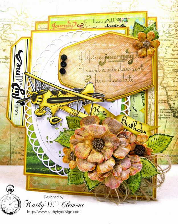 Heartfelt Creations Young at Heart Birthday Card Young at Heart by Kathy Clement Product by Heartfelt Creations Photo 1