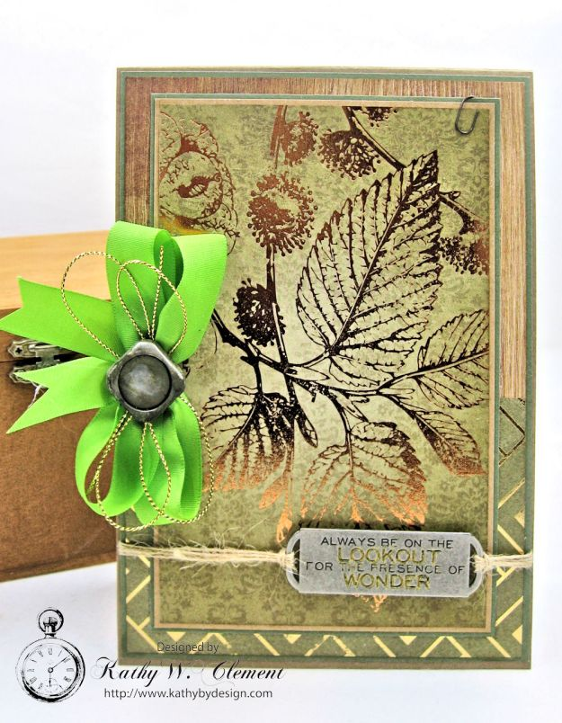 Nature Themed Masculine Card with Ribbon by Kathy Clement for Really Reasonable Ribbon Photo 1