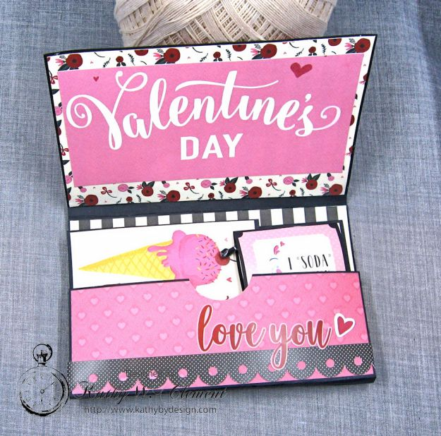 Hugs and Kisses Valentine Wallet Hello Sweetheart by Kathy Clement Valentine Gallery Post Product by Carta Bella Photo 3